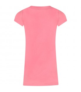 Pink dress for girl with pony logo