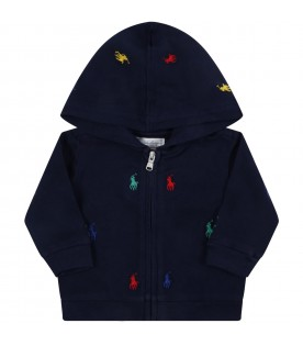 Blue tracksuit for baby kids