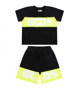 Black suit for babykids with logo