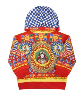 Red sweatshirt for baby kids with prints