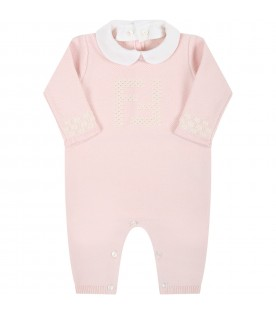 Pink set for baby girl with douple FF