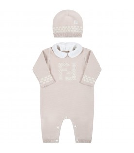 Beige set for babykids with douple FF