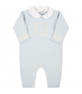 Light blue set for baby boy with douple FF