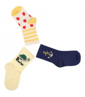 Multicolor set for kids with logo