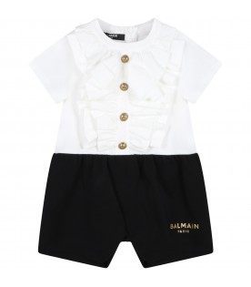 Multicolor babygrow for baby girl with logo