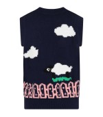 Stella Mccartney Kids Blue vest for kids with flowe and clouds