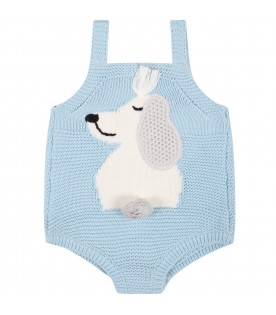 Light bleu body for baby boy with dog
