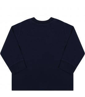 Blue t-shirt for baby kids with pony logo