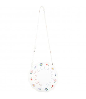 White bag for girl with flowers