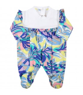 Multicolor set for baby girl with flowers