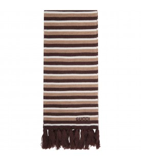 Multicolor scarf for kids with logo
