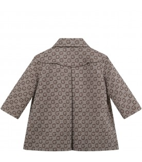 Multicolor coat for baby kids with double GG