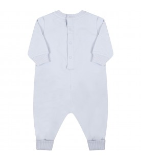 Light blue babygrow for baby boy with logo