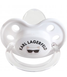 White pacifier for baby kids