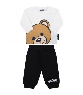 Multicolor suit for baby kids with teddy bear