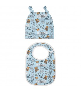 Light blue set for baby boy with teddy bears
