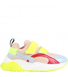 Multicolor snakers for girl with logo