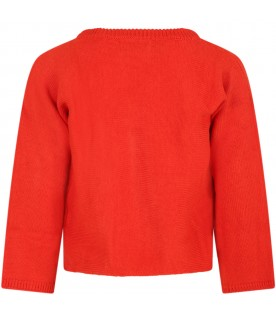 Red sweater for kids with pencil