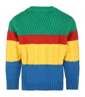 Colorblock sweater for kids