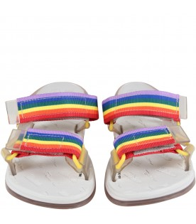 Transparent sandals for kids with logo