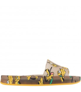 Beige sandals for kids with Pluto