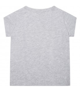 Grey t-shirt for baby kids with elephant