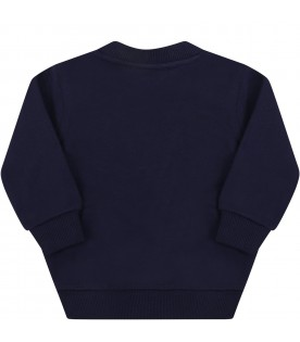Blue sweatshirt for baby boy with tiger