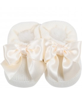 Ivory suit for baby girl