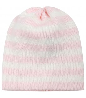 Milticolor hat for baby girl