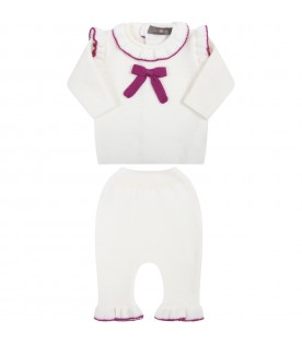 White suit for baby girl