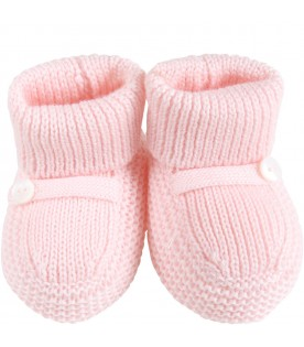 Pink baby-bootee for baby girl