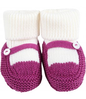 Multicolor baby-bootee for baby girl