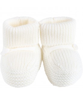 White baby-bootee for baby kids