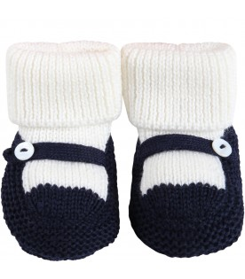 Multicolor baby-bootee for baby boy