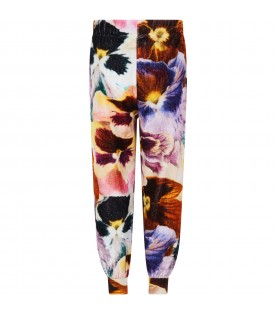 """""""Amina"""" sweatpants for girl with flowers"""