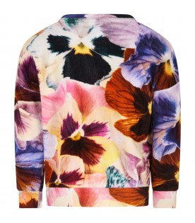 """""""Mika"""" sweater for girl with flowers"""