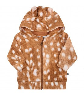 """Brown """"Demi"""" hoodie for baby girl"""