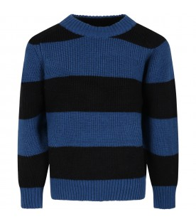 """Multicolor """"Bosse"""" sweaterfor boy with stripes"""