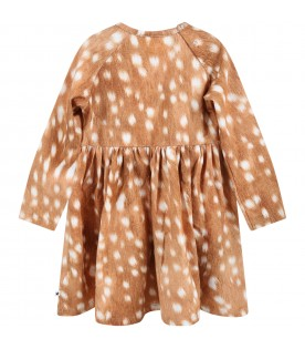 """Brown """"Charmaine""""  dress for baby girl"""