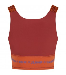 Multicolor top for girl with logo