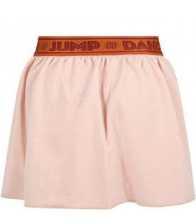 Pink shorts for girl with logo