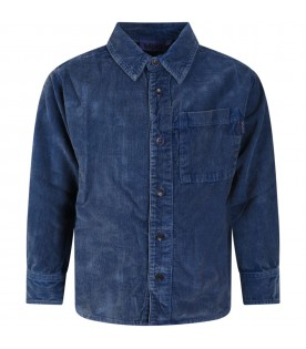 Blue shirt for kids with logo