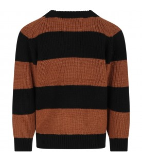 Multicolor sweater for kids with logo