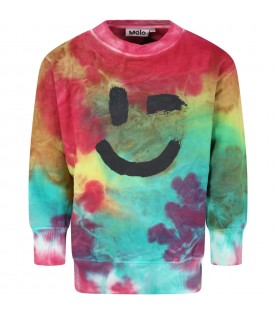 Multicolor sweatshirt for kids with Smile