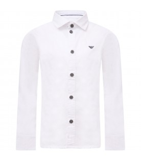 White shirt with embroidered logo