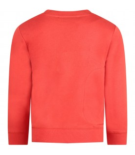 Red kids sweatshirt with Christmas decorations
