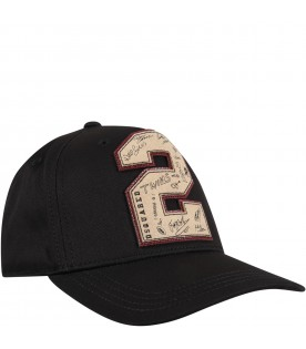 Black hat for boy with logo