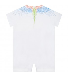 White romper for baby kids with iconic wings