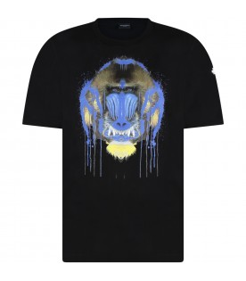Black t-shirt for boy with gorillas