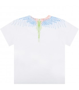 White t-shirt for baby kids with iconic wings